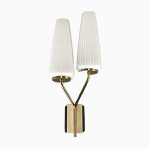 Glass and Metal Sconce, 1960s