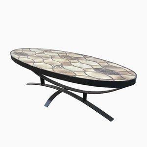 Table Basse Mid-Century par Roger Capron