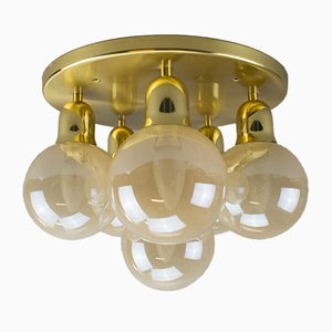 Vintage Brass Orbit Ceiling Lamp, 1970s