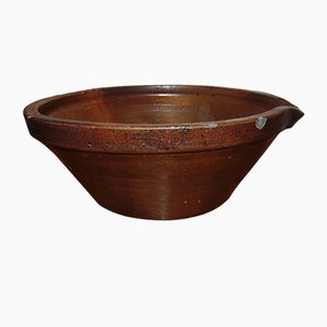 Antique Pre-War Clay Bowl