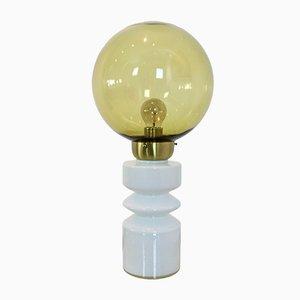 Lámpara de mesa de vidrio y latón de Raak Amsterdam, años 60