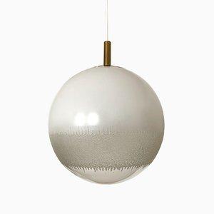 Deckenlampe aus Glas, 1960er