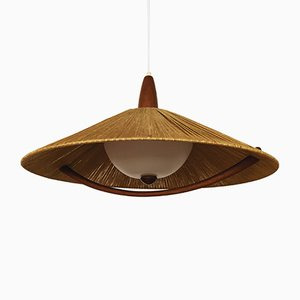 Raffia Pendant Lamp from Temde, 1960s