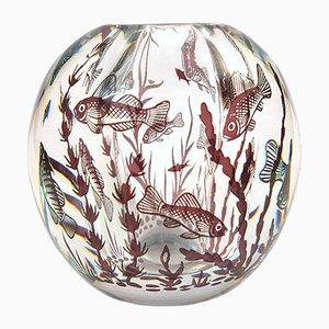 Fishgraal Vase von Edward Hald für Orrefors, 1950er