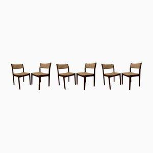 Mid-Century Esszimmerstühle aus Palisander von Erik Buch für Findahl's Mobelfabrik, 6er Set