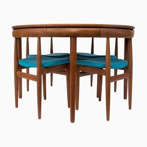 Mid-Century Set aus Esstisch & Stühlen von Hans Olsen