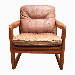 Moderner Sessel mit Lederpolster & Gestell aus Teak im skandinavischen Stil von Holstebro Mobelfabrik, 1960er