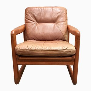 Scandinavian Modern Teak and Leather Lounge Chair from Holstebro Mobelfabrik, 1960s