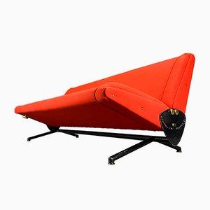 Canapé D70 Rouge par Osvaldo Borsani pour Tecno, années 50