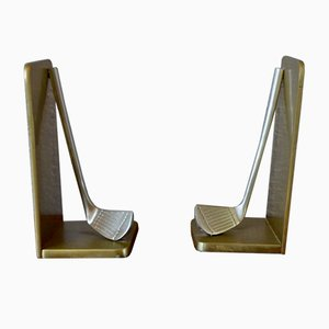 Brass Bookends, 1970s, Set of 2
