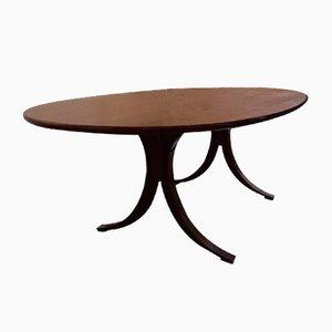 Tavolo da pranzo T102 in mogano di Osvaldo Borsani per Tecno, 1968
