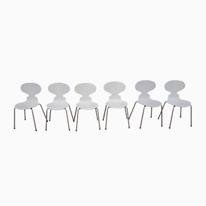 3110 Esszimmerstühle von Arne Jacobsen für Fritz Hansen, 6er Set