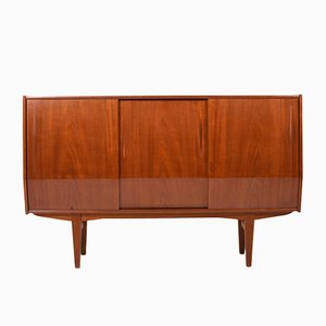 Mid-Century Danish Teak High Sideboard