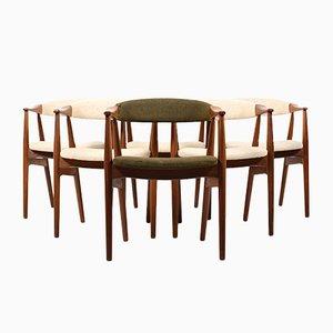 Mid-Century Esszimmerstühle aus Teak von Thomas Harlev für Farstrup Møbler, 6er Set
