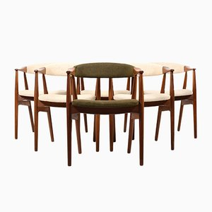 Mid-Century Teak Dining Chairs by Thomas Harlev for Farstrup Møbler, Set of 6