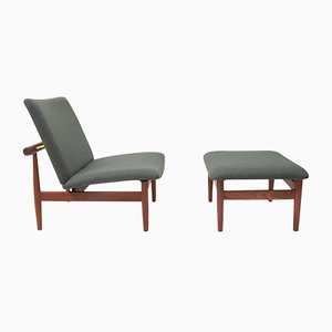 Series 137 Lounge Chair and Ottoman by Finn Juhl for France & Søn / France & Daverkosen, 1960s