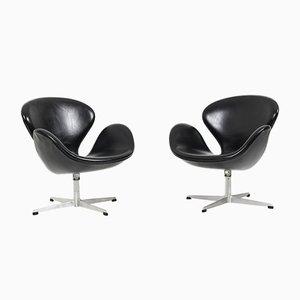 Mid-Century Swan Chairs von Arne Jacobsen für Fritz Hansen, 2er Set