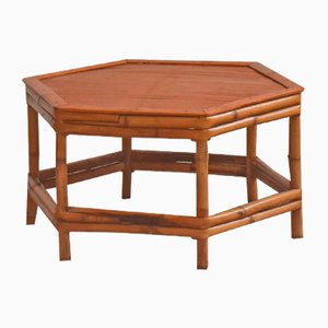Table d'Appoint en Bambou, années 80