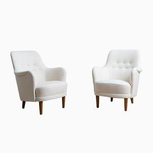 Samsas Sessel von Carl Malmsten für O.H. Sjögren, 1960er, 2er Set