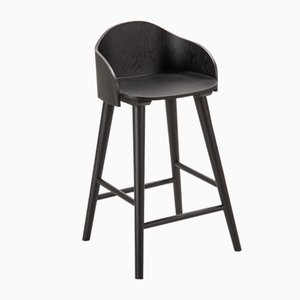 Ola Stool Black Oak by Caterina Moretti