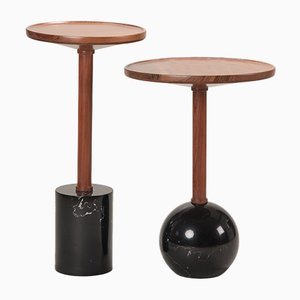 Sphere Monterrey Side Table in Black Marble by Caterina Moretti for Peca