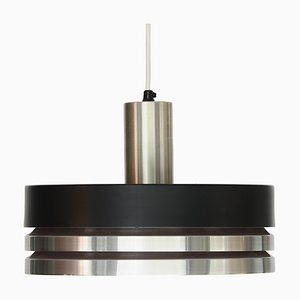 Lampada da soffitto Mid-Century in alluminio spazzolato di Carl Thore per Granhaga Metallindustri, Svezia