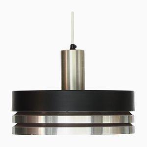 Schwedische Mid-Century Deckenlampe aus gebürstetem Aluminium von Carl Thore für Granhaga Metallindustri