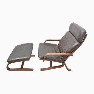 Sessel & Fußhocker von Ingmar Relling für Westnofa, 1960er