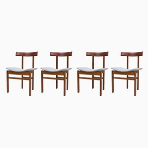 Teak & Wool Dining Chairs by Inger Klingenberg for France & Søn / France & Daverkosen, 1960s, Set of 4