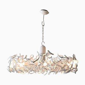 Lámpara de araña vintage de acero inoxidable