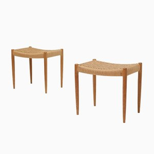 Stools by Niels Otto Møller for J.L. Møllers, 1960s, Set of 2