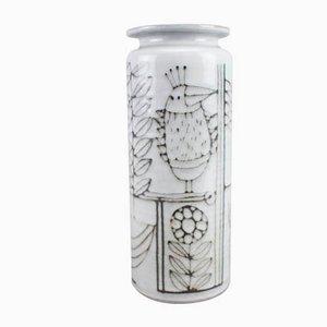 Keramikvase mit Vogel-Motiven von Wilhelm & Elly Kuch, 1960er