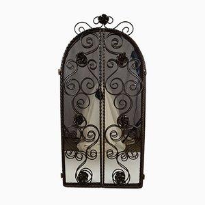 Espejo Art Déco de hierro forjado, años 30