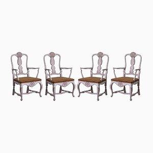 Antike Armlehnstühle, 4er Set