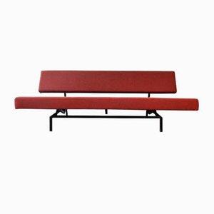 Sofá cama modelo BR03 holandés en rojo de Martin Visser para 't Spectrum, años 60