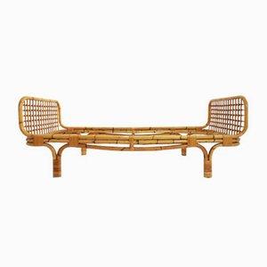 Sofá cama de bambú de Vittorio Bonacina, años 50