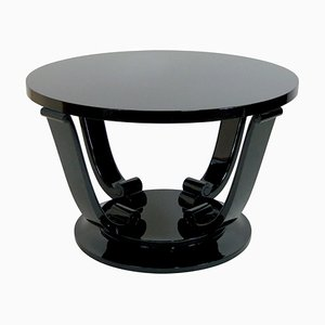 Art Deco French Black Side Table, 1930s