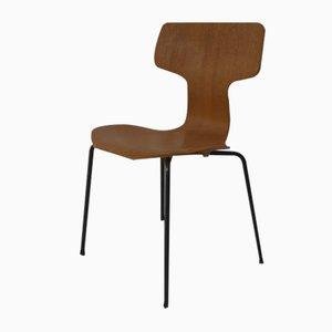 Silla de escritorio modelo 3103 Mid-Century con martillo de teca de Arne Jacobsen para Fritz Hansen