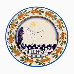 Antique Danish Decorative Plate from Royal Copenhagen, 1906