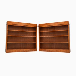 Antique Biedermeier Swedish Satin Birch Shelves, Set of 2