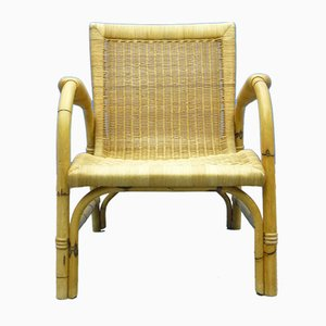 Rattan and Bamboo Armchairs from Arco, 1940s, Set of 2