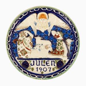 Antiker dekorativer dänischer Teller von Royal Copenhagen, 1907