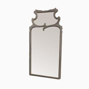 Großer abgeschrägter Mid-Century Spiegel
