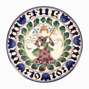 Antiker dekorativer dänischer Teller von Royal Copenhagen, 1919
