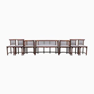 Antique Chair and Sofa Set by Josef Hoffmann, Set of 7