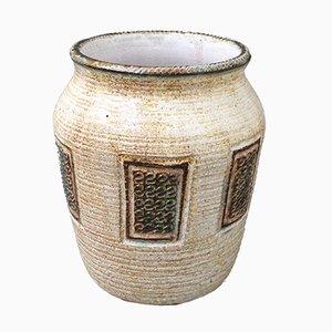 Französische Mid-Century Keramikvase, 1960er