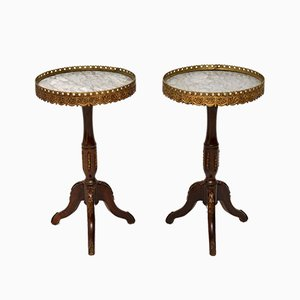 Antique French Wine Tables, 1930s, Set of 2