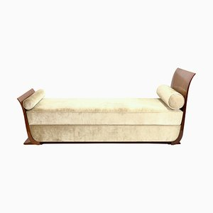 Art Deco French Amboina Veneer Sofa, 1930s