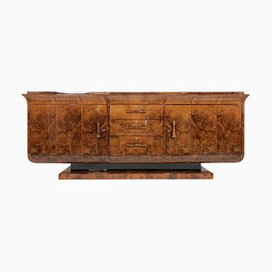 Art Deco French Walnut Veneer Sideboard, 1930s
