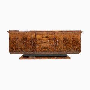 Französisches Art Déco Sideboard aus Nussholzfurnier, 1930er
